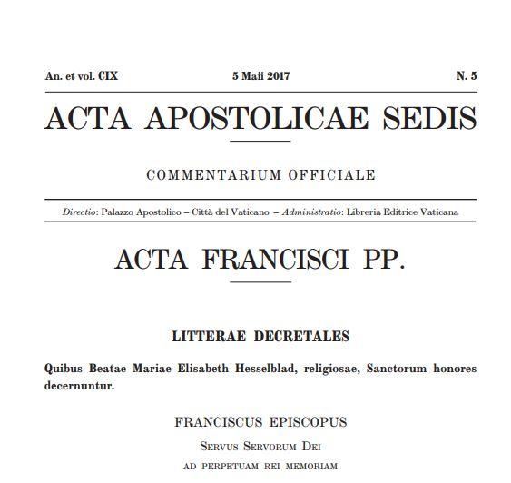 """Бюллетень Папских законодательных актов """"Acta Apostolicae Sedis"""""""